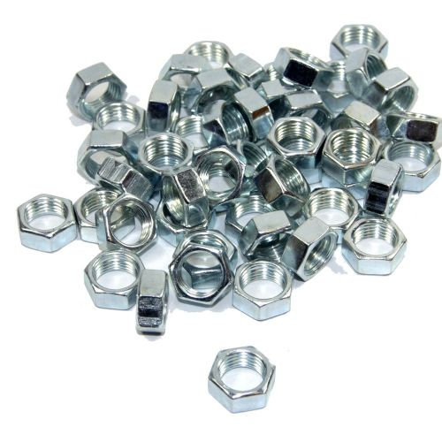 M10 x 1mm Pitch Zinc Plated Full Nuts Pack 10